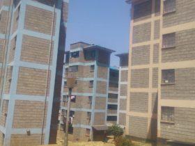 住宅基金で建設されたアパート。一部屋はおおよそ10フィート×10フィートという(筆者撮影)