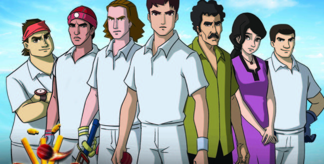 インド版アニメ「巨人の星」こと「スーラジ ザ・ライジングスター」。中央が主人公のスーラジ、その左がライバルのヴィクラム